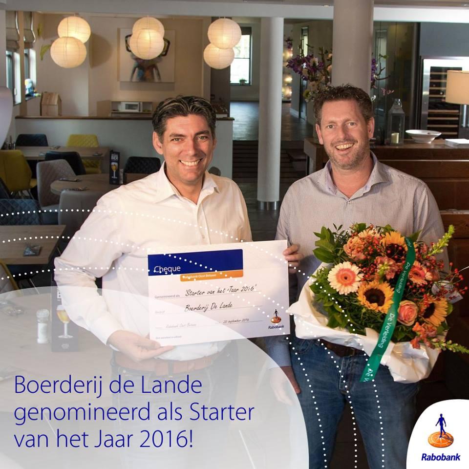 Starter van het jaar; Boerderij De Lande; Oost Betuwe; Huissen; Pannenkoeken
